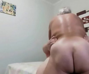 Horny grandpa tops me with..